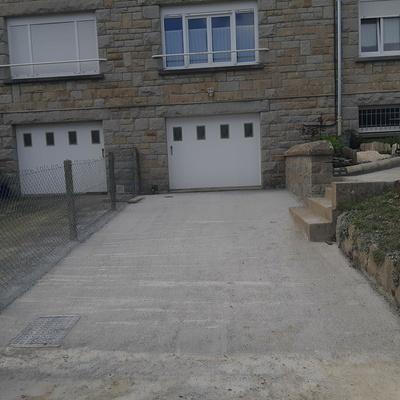 Coulage de dalle devant garage et création accès piéton - La Richardais
