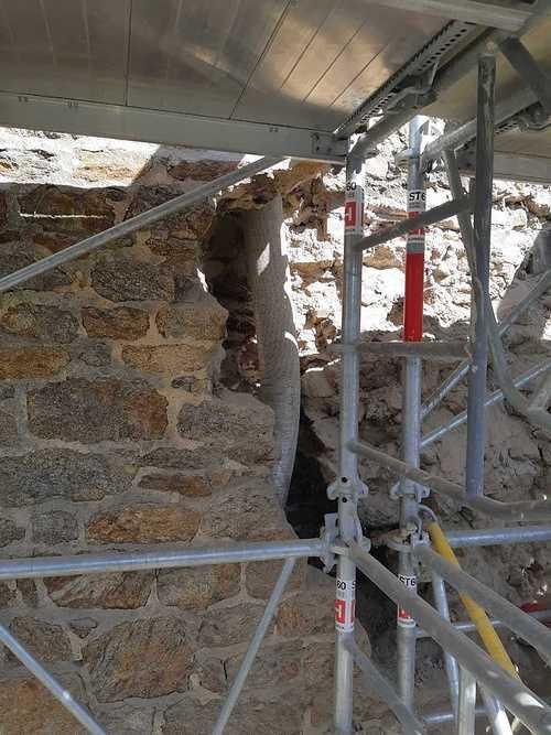 Reprise de maçonnerie suite effondrement d''un pignon pierre - Saint-Malo reprise