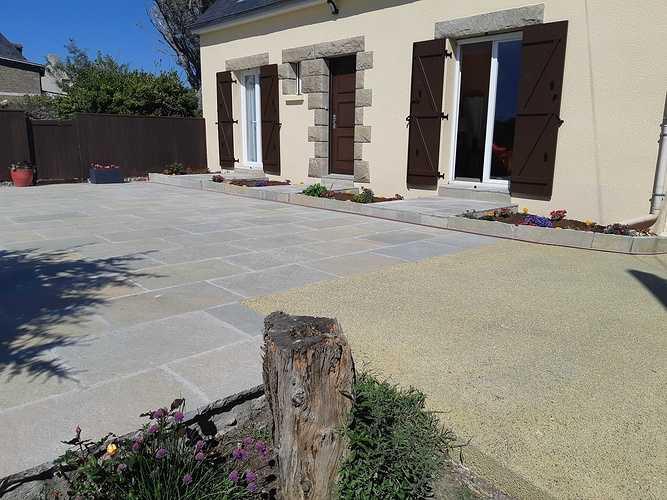 Création d''une terrasse en dalles - Rothéneuf (35) 20190521165725