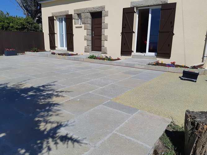 Création d''une terrasse en dalles - Rothéneuf (35) 0