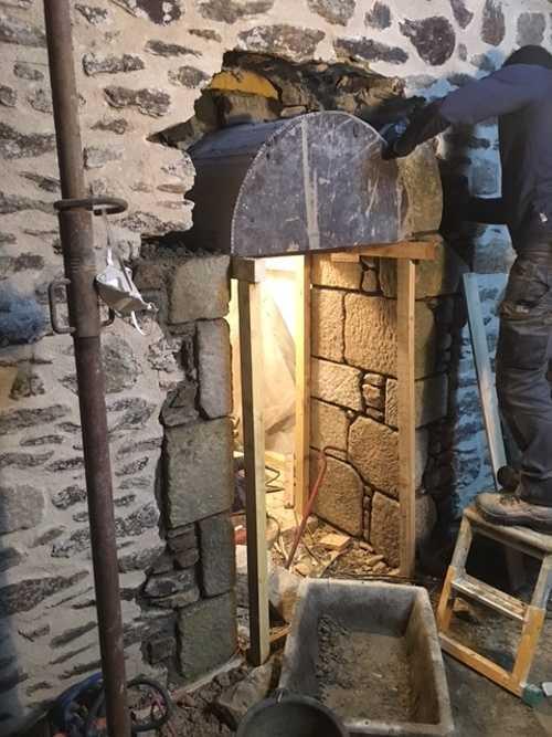Création de percement dans mur pierre 0