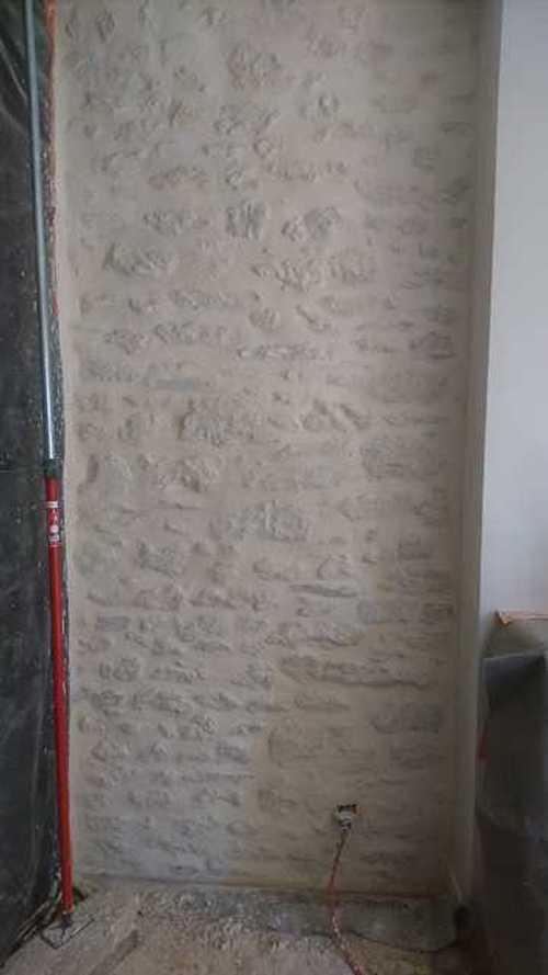 Mur Pierre Intérieur Enduit À La Chaux - Beauvir