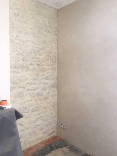 Mur Pierre Intrieur Enduit  La Chaux  Beauvir